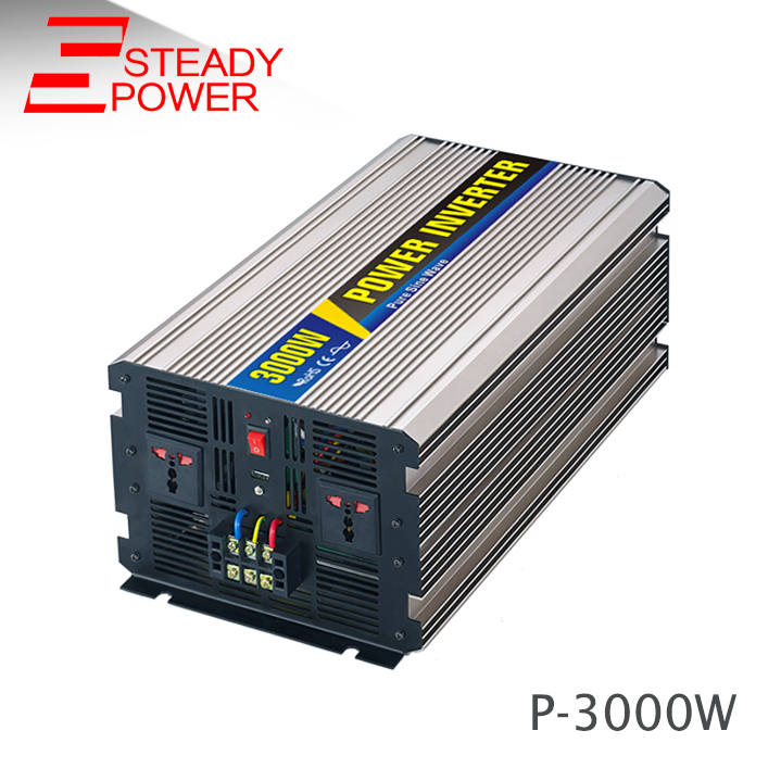 (P-3000) 3000w 12v 24v DC to AC  220v pure sine wave solar power inverter 50/60 Hz meziere wp101b sbc billet elec w p