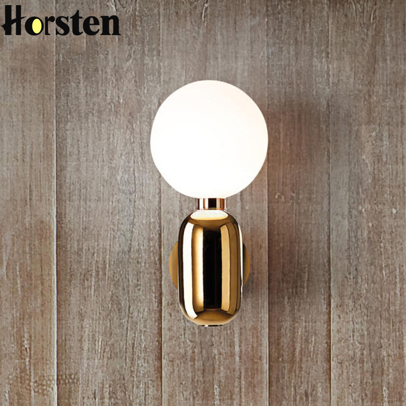 Nordic Modern LED Wall Lights Minimalist Glass Ball Wall Lamps For Corridor Living Room Bedroom Stair Lighting Fixtures modern glass ball wall lamps luminaria led wall lights for bedroom living room wall sconces light fixtures lustre lighting lighs