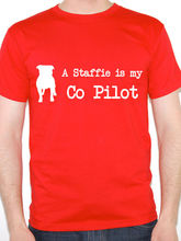 Best T Shirt Sites MenS A Staffie Is My Co Pilot Dogs O-Neck Cotton Short Sleeve Shirts