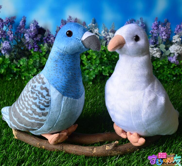 Children'S Toys Birthday Simulations  Cute Birds Rock Pigeons Dolls Stuffed Animals  Plush Toy Kawaii Shops cute animals figure dolls finger puppets plush toys 10 pcs