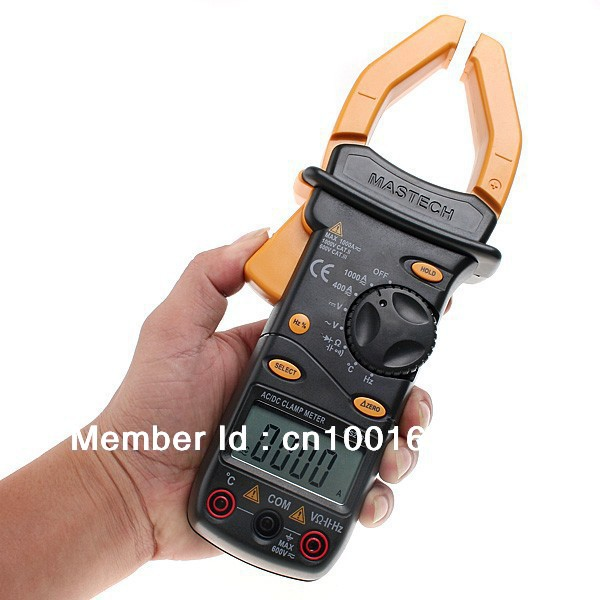 Mastech MS2101 Professional MASTECH AC/DC Digtal Clamp Meter Temp Frequency  токовые клещи mastech ms2101