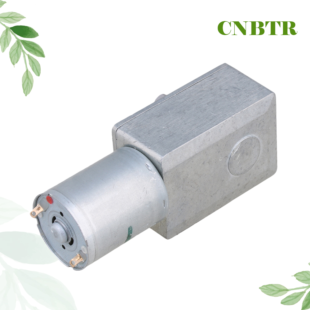 Cnbtr High Torque Turbo Worm Right Angle Geared Motor 12v Dc Motor Gw370 24rpm In Dc Motor From