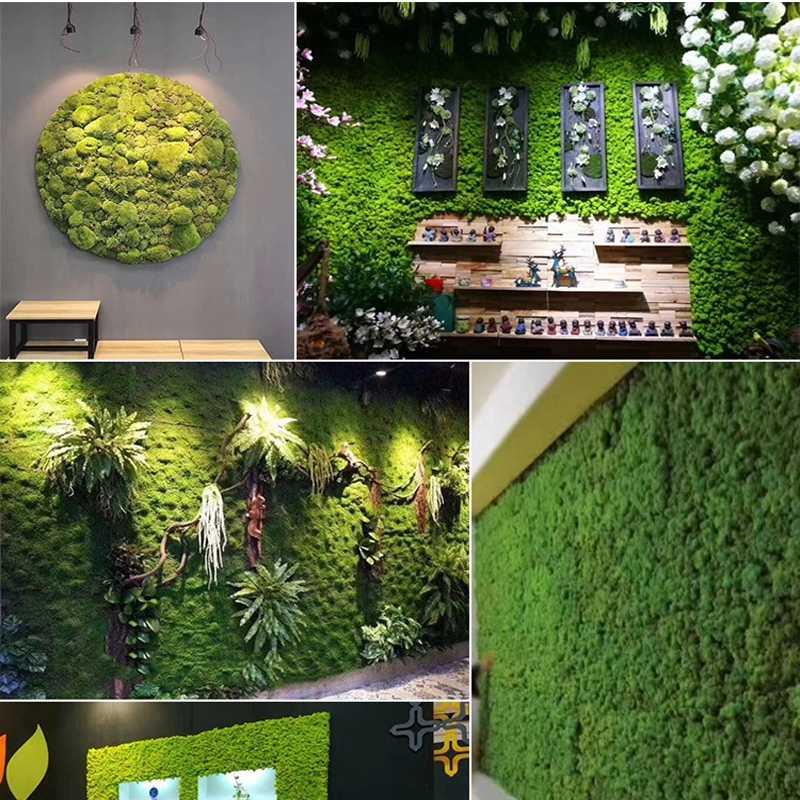 Artificial Moss Stones Grass Fake Rock Green Plant Landscape Garden Decor