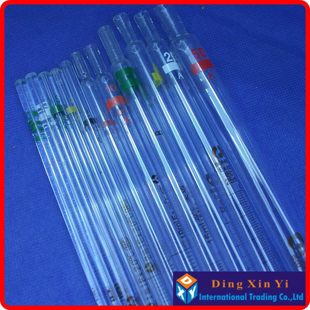 10 Pieces Lot25ml Glass Burettegraduated Pipette Resolution 01ml