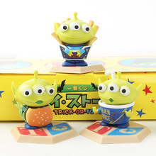 цена на 3pcs/set Toy Story 4 cute Buzz Woody Alien PVC Anime Action Figure Burger fries cola ornaments doll Toy Kids gift with box