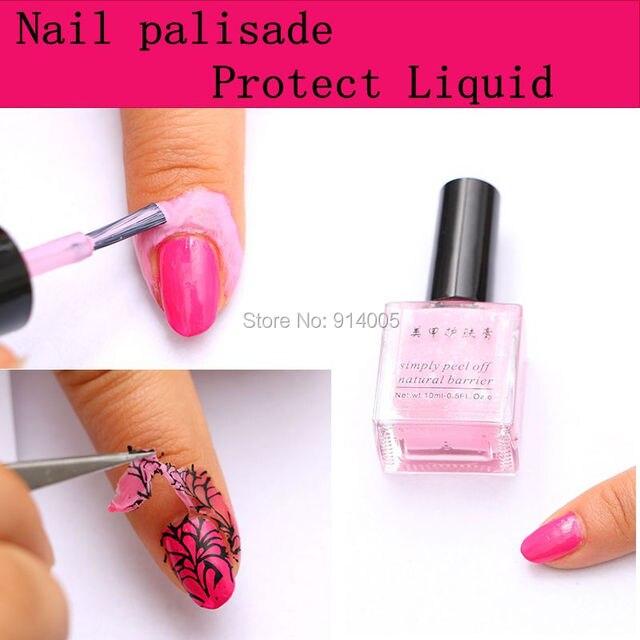 Peel off base gel coat finger skin protected nail liquid palisade ...