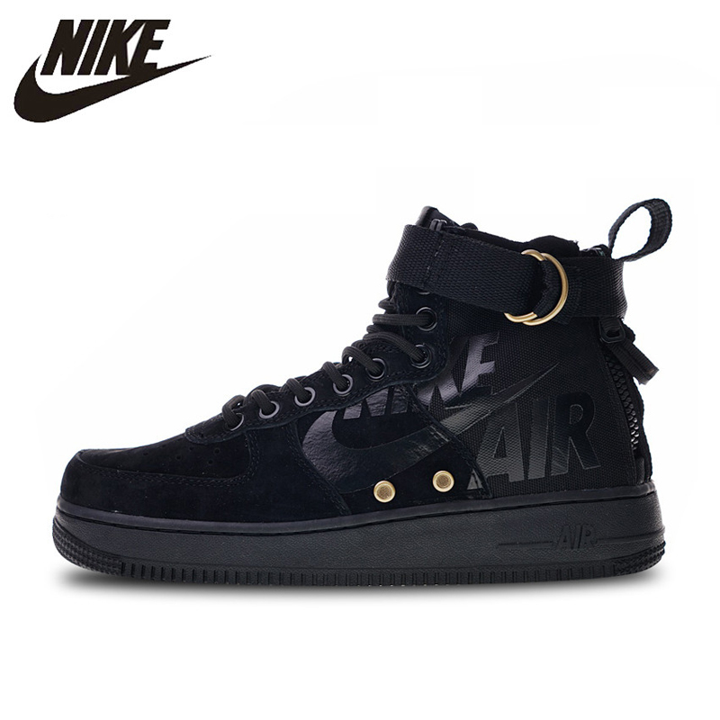 Nike SF Air Force 1 Utility Mid Skateboarding Shoes Sneakers Sports Black for Men 917753-002 40-45