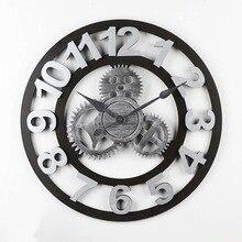 Европейские ретро промышленные ветровые шестерни новая гостиная Бар Настенные декорации личные часы 010