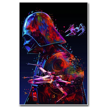 Плакат гобелен Звездные воины Дарт вейдер арт