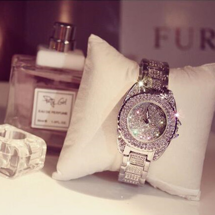 AAA 2015 new female Austrian crystal luxury watch imitation big large dial watches women men and dress  Watch B28