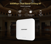 600Mbps 2.4+5.8G Dual Band 802.11AC Indoor Ceiling Mount Access Point Wifi Repeater Router 48V POE AP 500mW Wi fi Signal Amplife