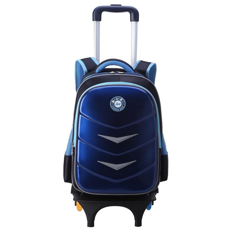 Children Trolley school Backpack Fashion Cartoon Wheeled School Bag For Girls Boys Detachable Backpack kids schoolbags