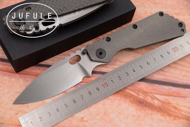 JUFULE Made SMF Carbon fiber Titanium handle D2 blade Copper washer Folding outdoor utility camping multi EDC Tool kitchen Knife ganzo g7362 g7362 gr folding 440c automatic stonewashed blade green g10 handle outdoor adventure multi camping climbing tool