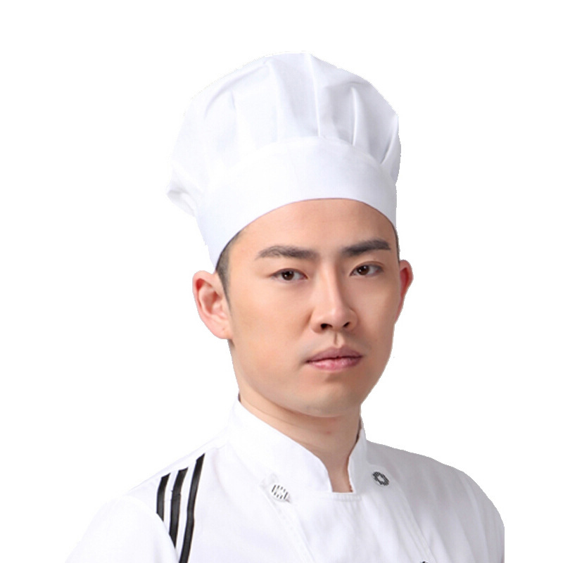 Delicious Cooker Chef Hat Cap Kitchen Dustproof Adjustable White Mushroom Hats Hotel Cake Shop H9 Last Style