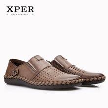 2017 XPER Бренды Мода Роскошные Мужчины Повседневная Обувь Slip-on Мокасины Мужские Мокасины Дышащий Большой Размер YMD86688BL/BN