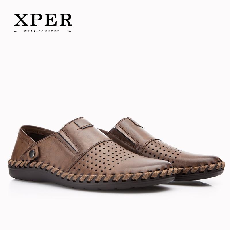 2017 XPER Marcas de Moda de Lujo de Los Hombres Zapatos Casual Slip-on Mocasines