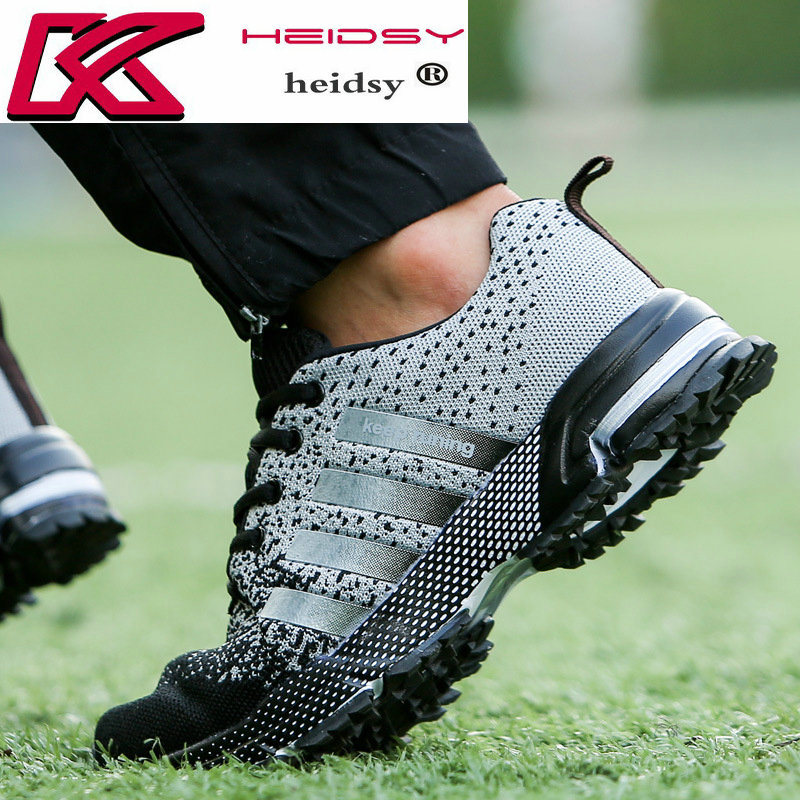 цена на Outdoors Summer Running shoes for Men Women Breathable Comfortable Sports Athletic Jogging Walking Lightweight Unisex Sneakers