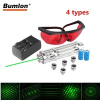 Green Laser Pointer High Power 50 80nm Mobile Laser Pen Rechargeable Battery Light Adjustable Focus With 5 stars Caps Box RL3 31