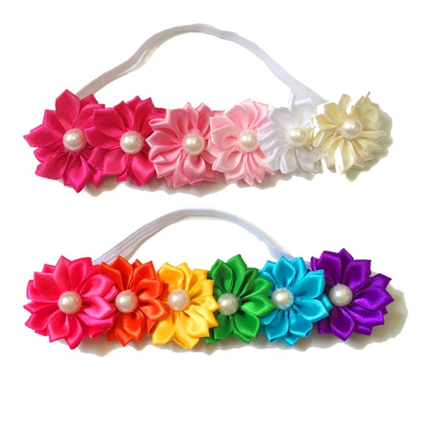 Hot Baby Girl Infant Toddler Colorful Headband Flower Bow Headwear Hair Band fast delivery to russia