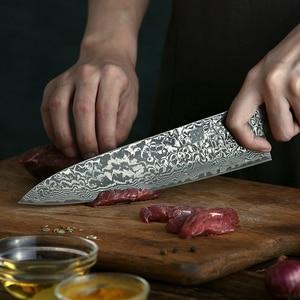 Image 3 - XINZUO Kitchen Knives Damascus Steel 578.5 Multifunctional Japanese Style Fruit/Paring Nakiri Chef Knife Meat Kitchen Tools