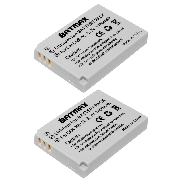 Batmax 2pc nb 5l nb 5l rechargeable battery for canon powershot batmax 2pc nb 5l nb 5l rechargeable battery for canon powershot s100 sx200 sx230 hs sciox Images