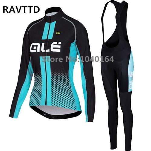 ФОТО 2017 Women Cycling Jersey Long sleeve and cycling bib Pants Sets Sports maillot ciclismo/ropa ciclismo Cycling Clothing