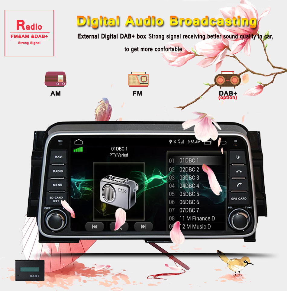 "Perfect 2din 8"" IPS android 9.0 4G 64G car dvd for NISSAN Kicks 2014- /Micra 2017- radio gps Multimedia head unit tape recorder player 11"