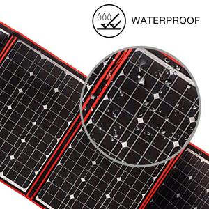 Image 3 - 200w 18V Flexible Foldble Solar Panel Form Home Solar Panel Sets outdoor For camping/Boats/RV Solar Cell 12V Charge Solar panel