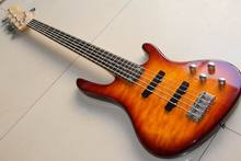 Free Shipping Fdr 5 string bass electric guitar mahogany body Bass guitar In sunburst 121118