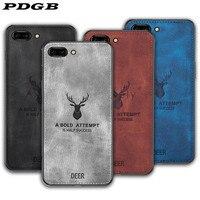 PDGB Rugged TPU Case For Xiaomi Mi 6 8 9 10 A1 A2 Lite 5X 6X Max 2 3 Mix 2s Note 3 Redmi 8A 9 Cloth Pattern Cover Elk Deer Shell