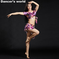 2017 New Promotion Branded Garments Belly Dance Costume Set Professional For Women Bellydance Top And Skirt With Safety Pants