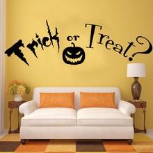 YOYOYU Trick or Treat Quote, Halloween. Vinyl Wall Art Sticker Decal Mural. Home Decor  Living Room Hallway wall stickers