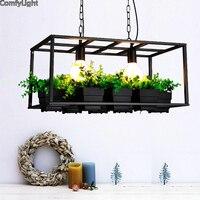Эко террариум освещение живое растение в горшке растение кулон плафон для лампы Современный свет цветочные горшки Выращивание трав или сук