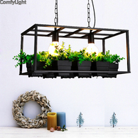 Эко террариум освещение живое растение горшках растение кулон плафон для лампы современный легкие цветочные горшки выращивания трав или с