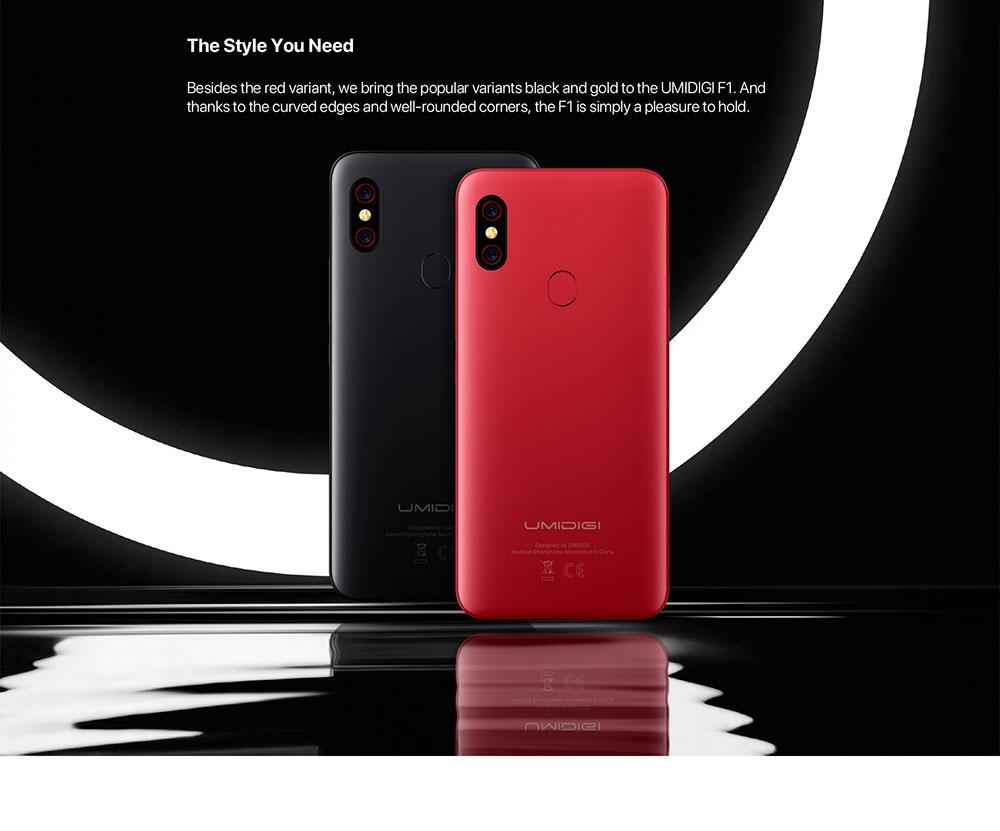 """UMIDIGI Ф1 играть Андроид 9.0 48MP+8МП+камеры 16МП 5150mAh 6ГБ оперативной памяти 64 Гб ROM 6.3"""" по-емкостный+ Гелио Р60 глобального Smartphone версии двойной 4G"""
