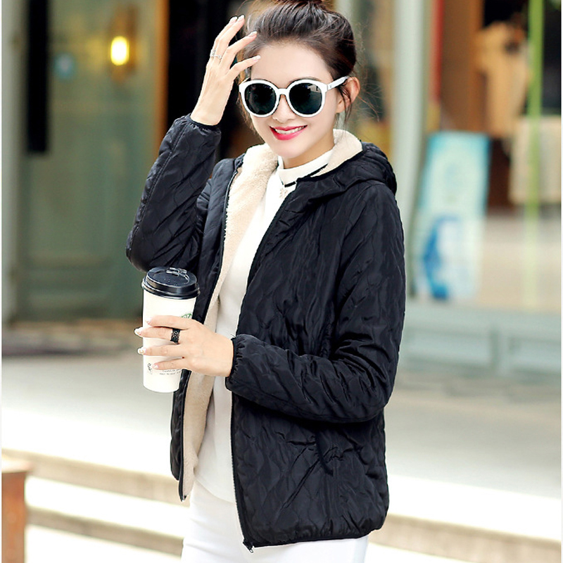 Fashion 2018 Women Winter Hooded Coat Long Fleece Thin Slim Spring   Basic     Jacket   Female Outerwear Short Girls Jaqueta Feminina