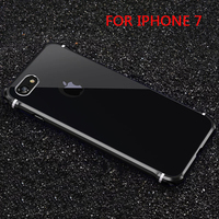 Popular Cool Luxury Alloy Ultra Thin Metal Back Case Cover Skin For Iphone 7 Shell Never