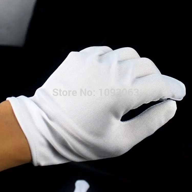 1 Pair Hip hop Performance  Gloves Cotton Magician Costume Party Halloween、FO