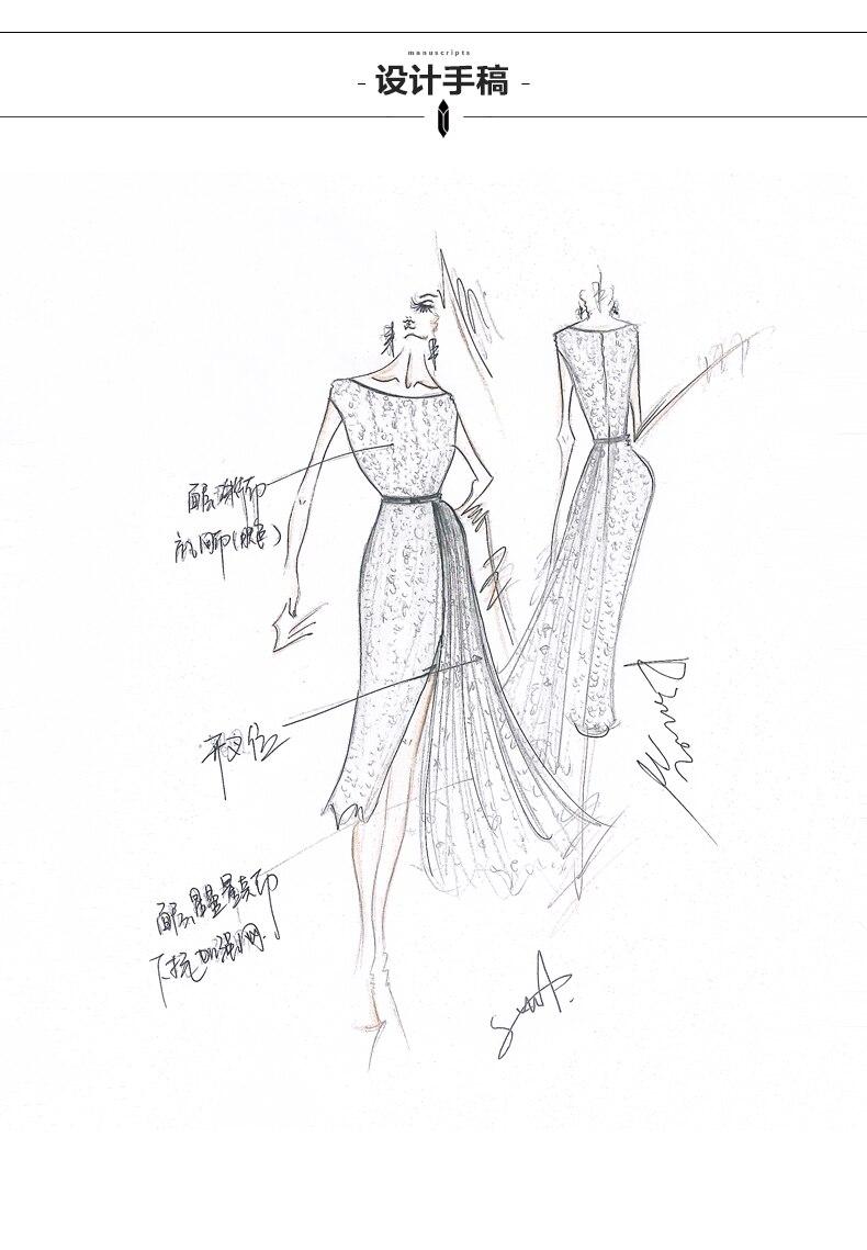 Élégant O Robes Dames Q148 Cou Or Une Manches Robe Ligne Longue Sequin Femmes Patchwork Sans Sexy Dentelle RYnzgzqP
