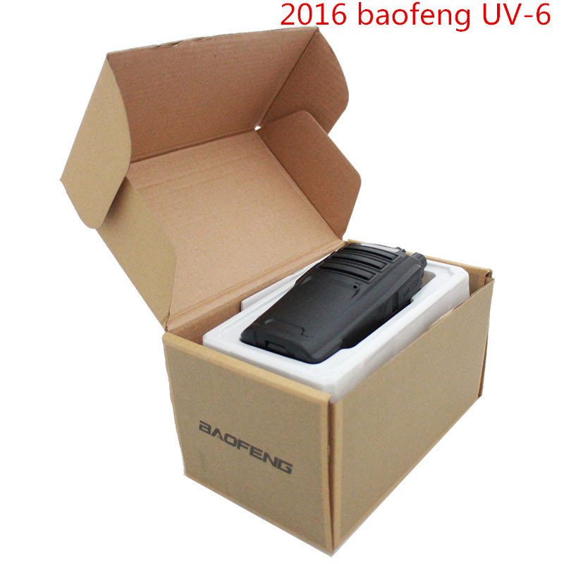 2016 Baofeng UV-6 Walkie Talkie 400-470MHz&136-174Mhz VHF+UHF Dual Band 5W 128CH Handy Hunting Radio Receiver With Headfone