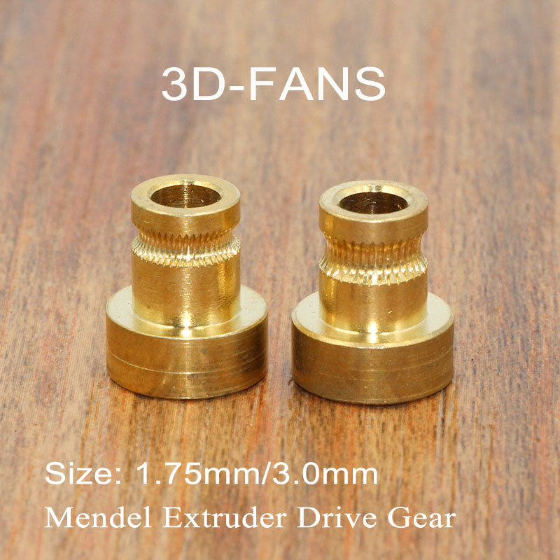2Pcs Extruder Drive Gear For 1.75mm 3mm Bore 5mm Squeeze Feeding Hobbed Wheel