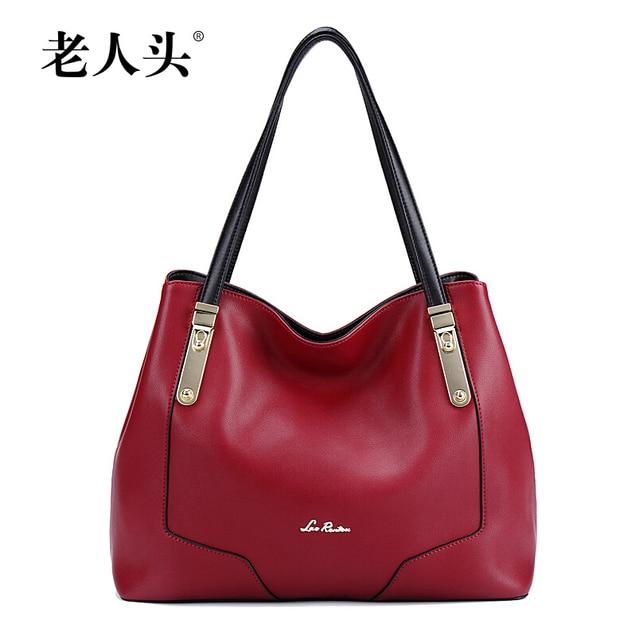 Famous brand top quality dermis women bag    New winter fashion shoulder bag red wine Hand Messenger bag