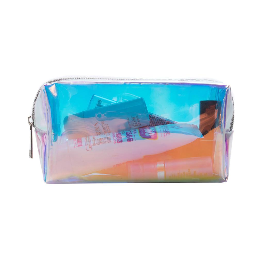 Miyahouse Hot Sale Laser Deisgn Transparent Travel Bag Female Waterproof Jelly Bag PVC Cosmetic Bag For Female Makeup Bag 2