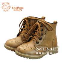 Classic British Style Leather Boots 2016 New Fashion Baby Boots  Baby Girls Boys Boots Leather Baby Shoes Chaussure Enfant