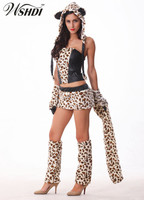 Adult Deluxe Leopard Tiger Cat Costume Tigers Game Cosplay Clothing Party Dress Sexy Animal Costumes