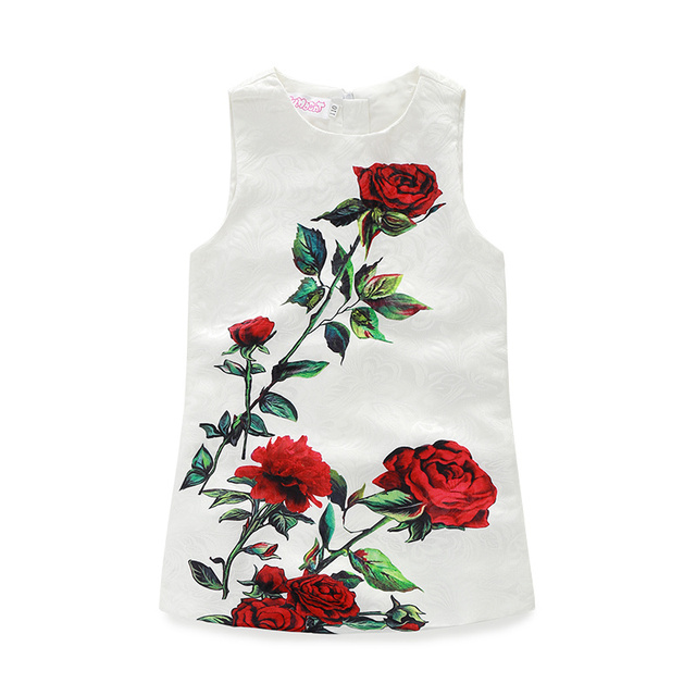 Leuke Kinderkleding Merken.Kids Jurken Merk Meisjes Kleding Rose Bloemen Prinses Jurk Mouwloze