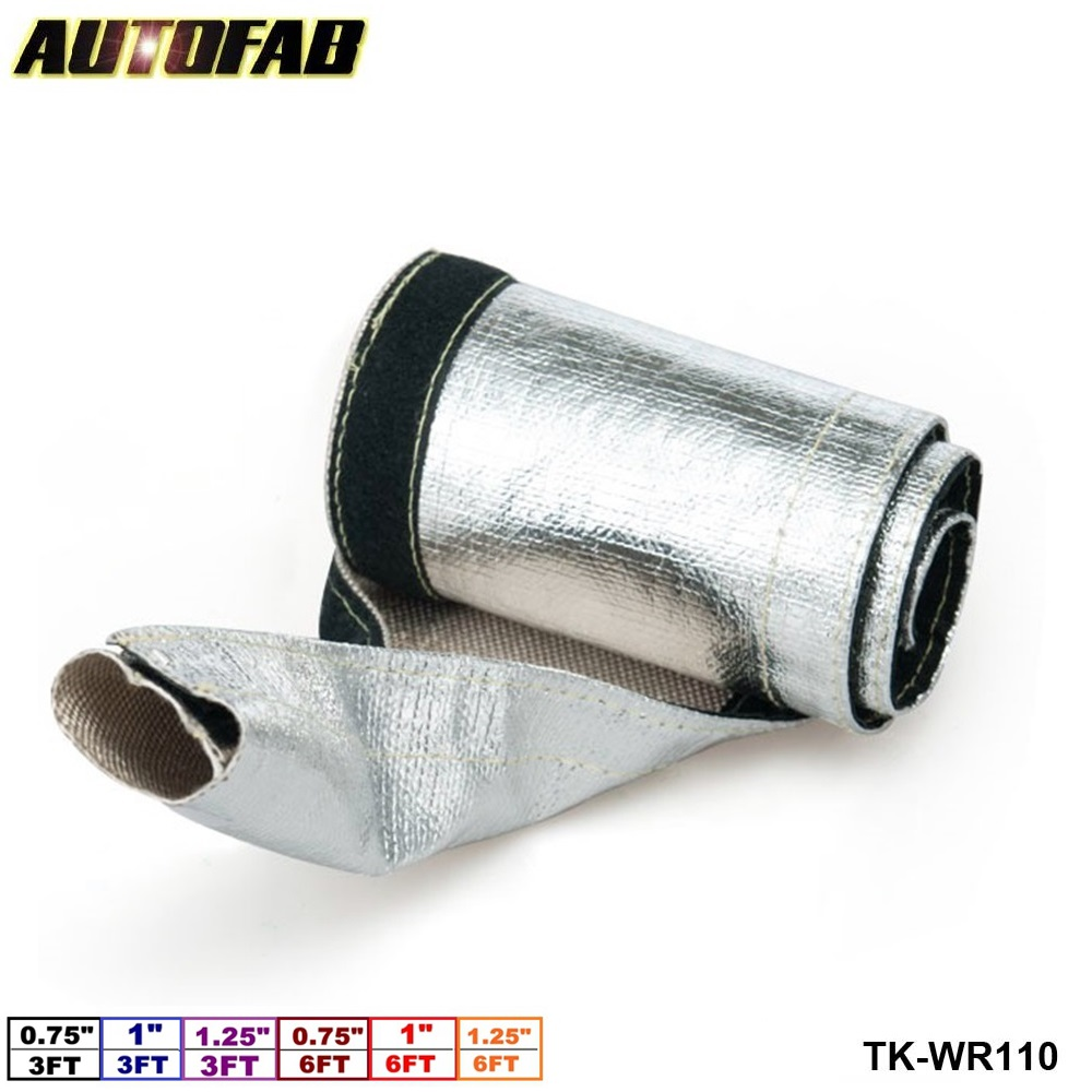 10 Insulated Wire Covers : Autofab aluminized metallic heat shield sleeve insulated