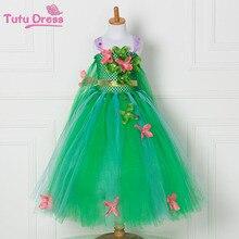 2017 Más Nuevo de la Muchacha Verde Tutu Vestido de Princesa Vestidos de Flores de Navidad Traje de Los Niños(China (Mainland))