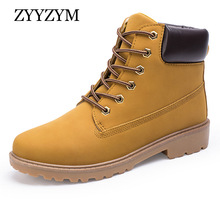 ZYYZYM Women Boots Snow Motorcycle Shoes Leather Winter Solid Plush Mujer Botas