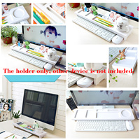 NC Computer Keyboard Stand Office Desk Desktop Organizer Putting Away Rack Shelf Holder Bracket Storage Space